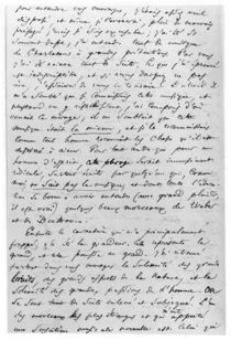 Letter to Richard Wagner 17th February 1860 von Charles Pierre Baudelaire