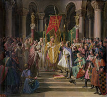 Philip Augustus King of France Taking the Banner in St. Denis von Pierre Henri Revoil