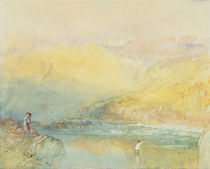 On the Mosell, near Traben Trarabach by Joseph Mallord William Turner