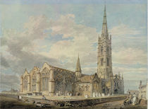North-east View of Grantham Church by Joseph Mallord William Turner