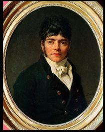 medallion Portrait of the Comte Esteve by Jacques Louis David