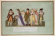 Fol.5 Incroyables and Merveilleuses on the Boulevard des Italiens by Lesueur Brothers