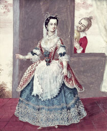 Mademoiselle Contat in the Role of Suzanne in 'The Marriage of Figaro' von French School