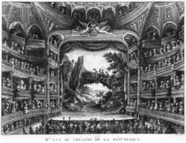 Second view of the Theatre de la Republique by Francois Denis Nee