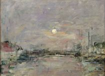 Dusk on the Commercial Dock at Le Havre by Eugene Louis Boudin