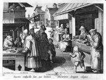 The Spectacles Seller, engraved by Jan Collaert and Joan Galle von Jan van der Straet
