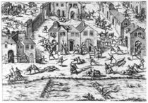The Massacres of Sens, 12th April 1562 by French School