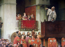 St. John Chrystostomos Preaching Before the Empress Eudoxia c.1880 von Joseph Wencker