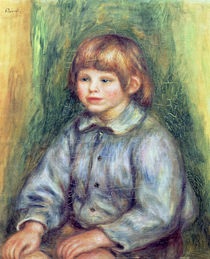 Seated Portrait of Claude Renoir 1905-08 by Pierre-Auguste Renoir