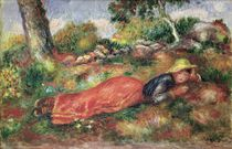 Young Girl Sleeping on the Grass von Pierre-Auguste Renoir