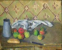Fruit, Serviette and Milk Jug by Paul Cezanne