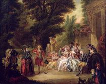 The Minuet under the Oak Tree von Francois Louis Joseph Watteau