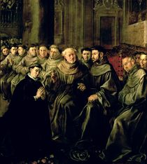 Welcoming St. Bonaventure into the Franciscan Order by Francisco Herrera