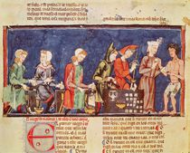 Fol.65v Dice Makers, from the 'Book of Games by Spanish School