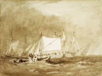 Shipping Scene, with Fishermen by Joseph Mallord William Turner