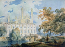 Clare Hall and the West End of King's College Chapel von Joseph Mallord William Turner