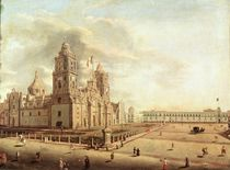 The Catedral Metropolitana and the Palacio Nacional by Pedro Gualdi