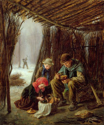 The Woodcutter's Meal, 1873 von Pierre Edouard Frere