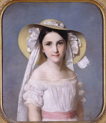 Portrait of Miss Emily Leo by Wilhelm Auguste Rudolf Lehmann
