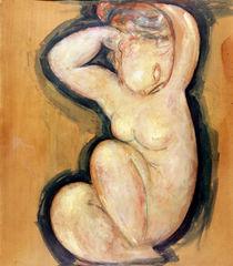 Caryatid, c.1913-14 by Amedeo Modigliani