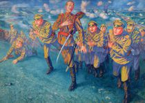 In the Firing Line, 1916 by Kuzma Sergeevich Petrov-Vodkin