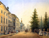 Court Departure at the Main Entrance of the Great Palace von Vasili Semenovich Sadovnikov