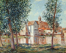 The Loing at Moret, September Morning by Alfred Sisley
