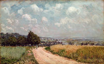 Turning Road or, View of the Seine by Alfred Sisley