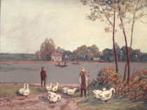 On the Banks of the Loing von Alfred Sisley