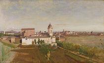 Trinita dei Monti from the Villa Medici by Jean Baptiste Camille Corot