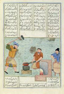 Ms C-822 Metal forge, from 'Shah-Nameh by Persian School