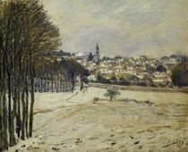 The Snow at Marly-le-Roi, 1875 von Alfred Sisley
