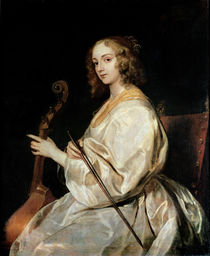Young Woman Playing a Viola da Gamba von Anthony van Dyck