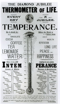 The Diamond Jubilee Thermometer of Life by English School