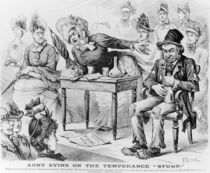 Aunt Evins on the Temperance 'Stump' by English School