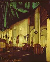 Interior of the Protestant Church in Delft by Cornelis de Man