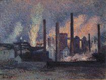 Study for Factories near Charleroi von Maximilien Luce