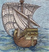 Ship of Columbus'Time', from 'The Narrative an Critical History of America' von English School