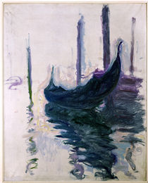 Gondolas in Venice, 1908 von Claude Monet