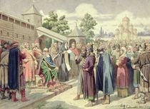Reading of the Code in the Presence of Grand Duke Jaroslav of Novgorod by Aleksei Danilovich Kivshenko