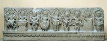 Frieze depicting nine divinities von Cambodian School