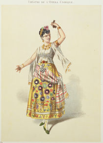 Galli Marie in the role of Carmen in 'Carmen' by Georges Bizet von French School