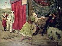 Scene from the opera 'Pagliacci' by Ruggiero Leoncavallo von French School