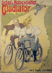 Poster advertising Gladiator bicycles and motorcycles von Ferdinand Misti-Mifliez