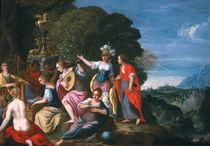 Athene and the Nine Muses at the Wells of Hipokrene von Johann or Hans Konig