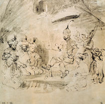 The Emperor Timur on his Throne von Rembrandt Harmenszoon van Rijn