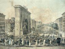 Entrance of Louis XVIII through the Porte Saint-Denis von Nicolas Joseph Vergnaux
