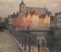 Quai de la Paille, Bruges von Paul Albert Steck
