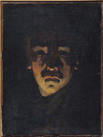 Self Portrait by Adolphe-Felix Cals