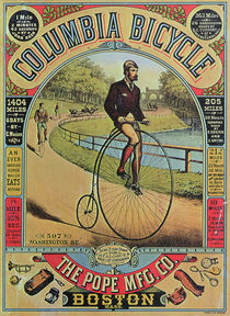 Advert for the Columbia Bicycle by The Pope MFG Co. by American School